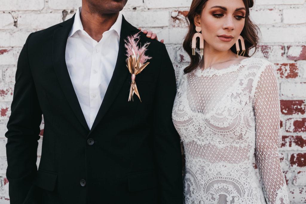 Roux Wedding Dress by Modern Trousseau. Made in the USA by Modern Trousseau.